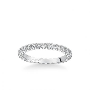 ArtCarved Eternity Anniversary Band 1 ctw in 18k White Gold