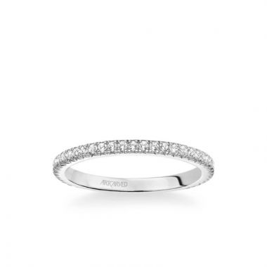 ArtCarved Stackable Eternity Band in 14k White Gold