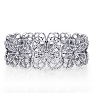 Lafonn Sterling Silver Pave Glam Simulated Diamond Bracelet