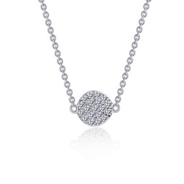 Lafonn Rhonda Faber Green Sterling Silver Simulated Diamond Necklace