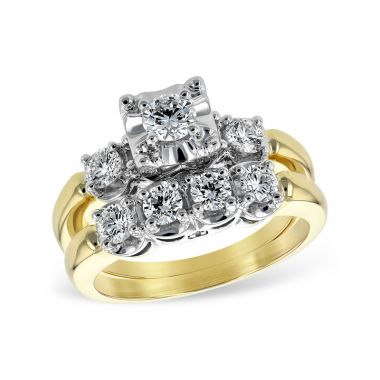 Allison Kaufman 14k Yellow Gold Straight Bridal Set