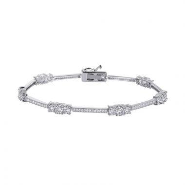 Lafonn Classic Sterling Silver Simulated Diamond Bracelet