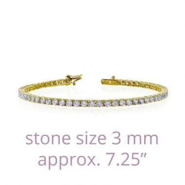 Lafonn Sterling Silver Classic Simulated Diamond Bracelet