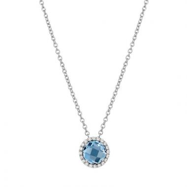 Lafonn Birthstone Sterling Silver Simulated Diamond Necklace