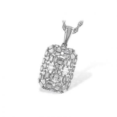 Allison Kaufman 14k White Gold Diamond Necklace
