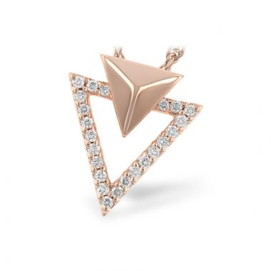 Allison Kaufman 14k Rose Gold Diamond Necklace