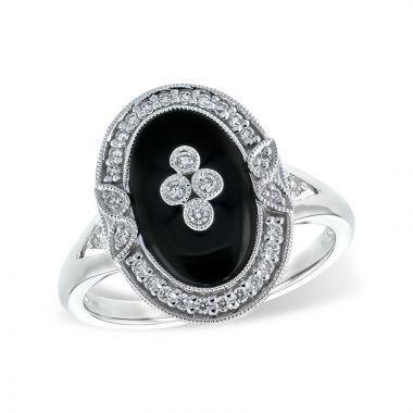 Allison Kaufman 14k White Gold Gemstone & Diamond Ring