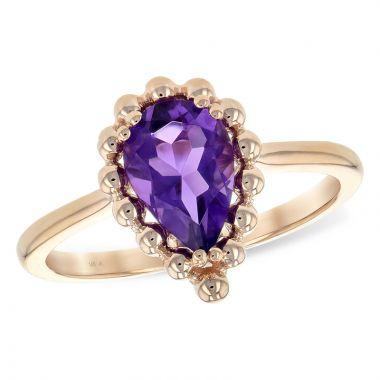 Allison Kaufman 14k Rose Gold Gemstone Ring