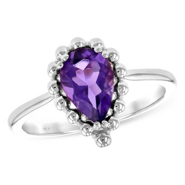Allison Kaufman 14k White Gold Gemstone Ring