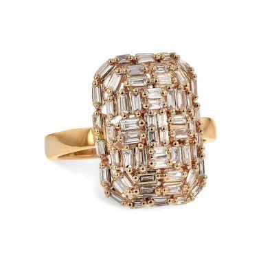 Allison Kaufman 14k Rose Gold Diamond Ring