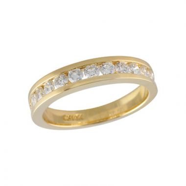 Allison Kaufman 14k Yellow Gold Eternity Wedding Band