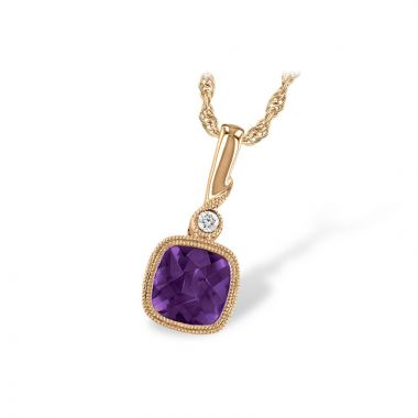 Allison Kaufman 14k Rose Gold Gemstone & Diamond Necklace
