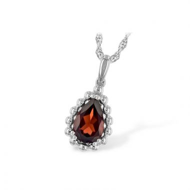 Allison Kaufman 14k White Gold Gemstone Necklace