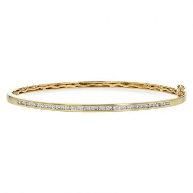 Allison Kaufman 14k Yellow Gold Diamond Bangle Bracelet