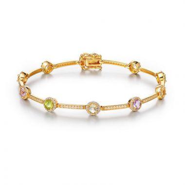 Lafonn Sterling Silver Aria Gemstone Bracelet