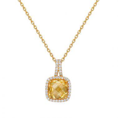 Lafonn Sterling Silver Aria Gemstone Necklace
