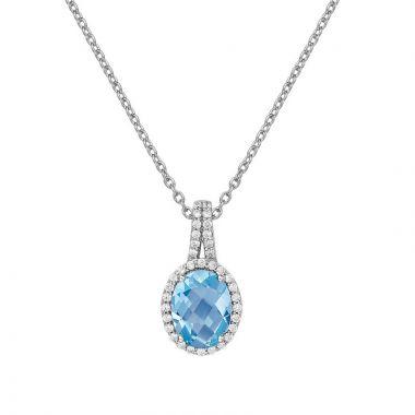 Lafonn Aria Sterling Silver Gemstone Necklace