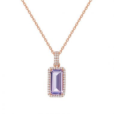 Lafonn Sterling Silver Aria Gemstone Necklace