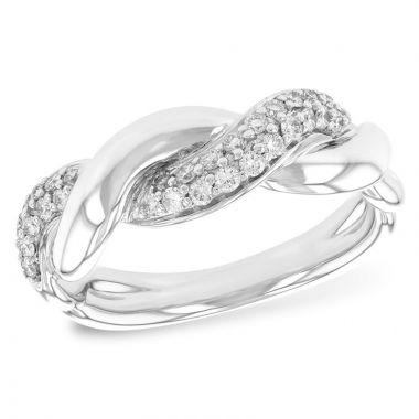Allison Kaufman 14k White Gold Twist Wedding Band