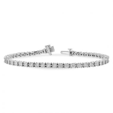 Allison Kaufman 14k White Gold Diamond Tennis Bracelet