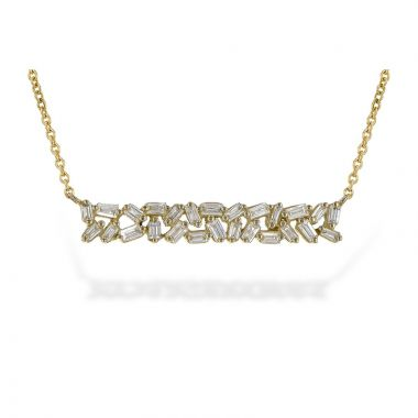 Allison Kaufman 14k Yellow Gold Diamond Necklace