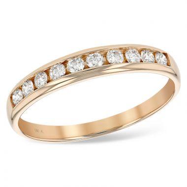 Allison Kaufman 14k Rose Gold Diamond Anniversary Wedding Band