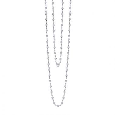 Lafonn Stackables Sterling Silver Simulated Diamond Necklace