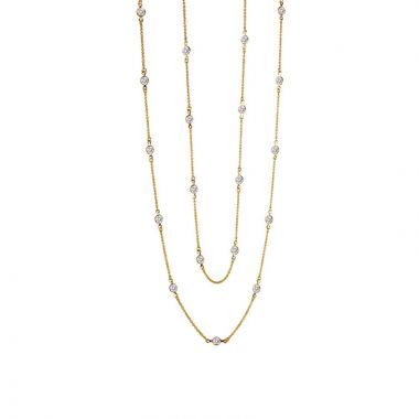 Lafonn Sterling Silver Stackables Simulated Diamond Necklace