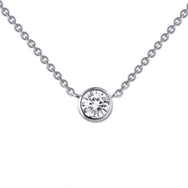 Lafonn Monte Carlo Sterling Silver Simulated Diamond Necklace