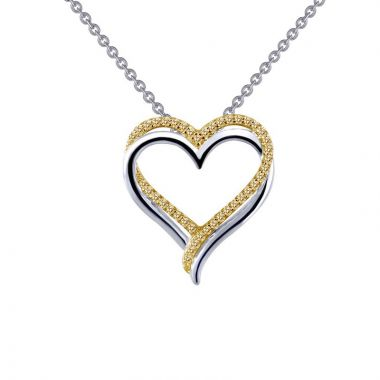 Lafonn Sterling Silver Classic Simulated Diamond Necklace
