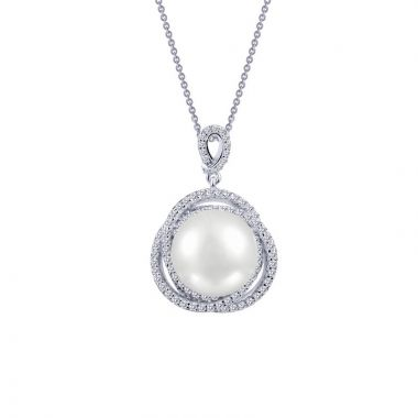 Lafonn Classic Sterling Silver Pearl Necklace