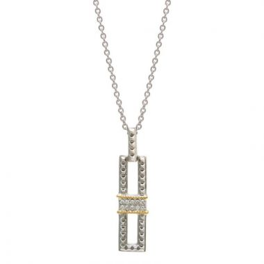 Andrea Candela 18k Yellow Gold and Sterling Silver La Romana Diamond andGemstone Necklace